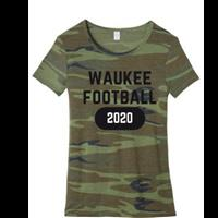 Ladies Camo Short Sleeve T-shirt